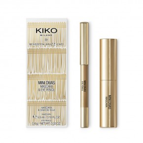 Kiko Mini Divas Mascara & Eye Pencil - mini zestaw do makijażu
